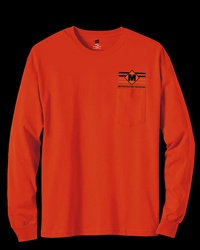 Hanes 6.1 oz. Tagless® Long-Sleeve Pocket T-Shirt