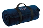 Port & Company® - Value Fleece Blanket with Strap